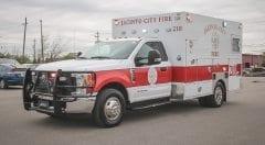 Jacinto City Fire EMS Vehicle