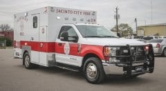 Jacinto City Fire EMS Vehicle