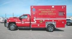 Emergency Medical Service Vehicle Bryan Fire