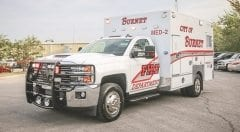 Burnet Fire Department EMS Vehicle