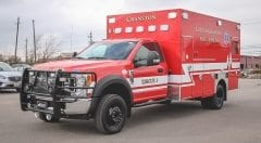 City of Cranston Fire Rescue EMS Vehicle