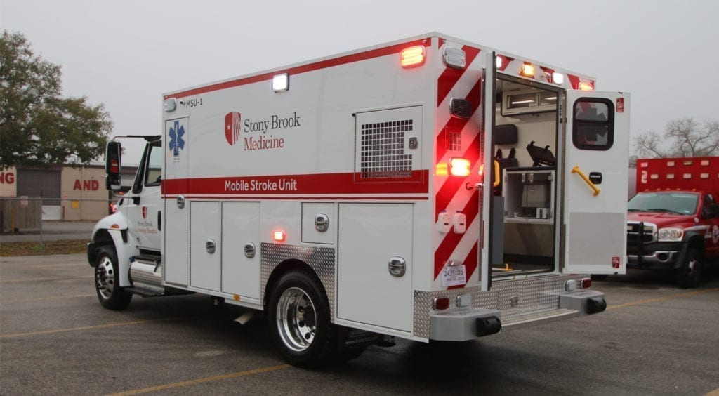 Stony Brook University Hospital receives its first of two Frazer Mobile Stroke Units.